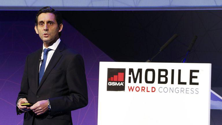 José María Álvarez Pallete, en el Mobile World Congress