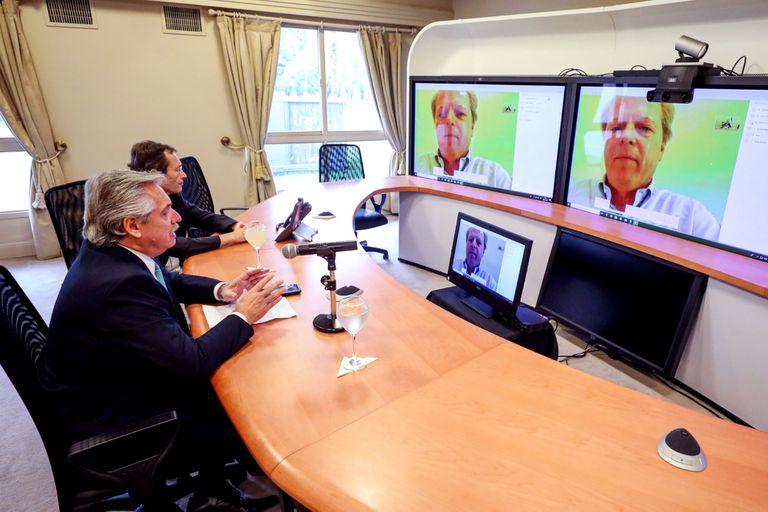 Alberto Fernández, en comunicación con el Banco Mundial
