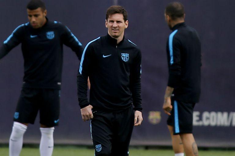 Messi, en el entrenamiento
