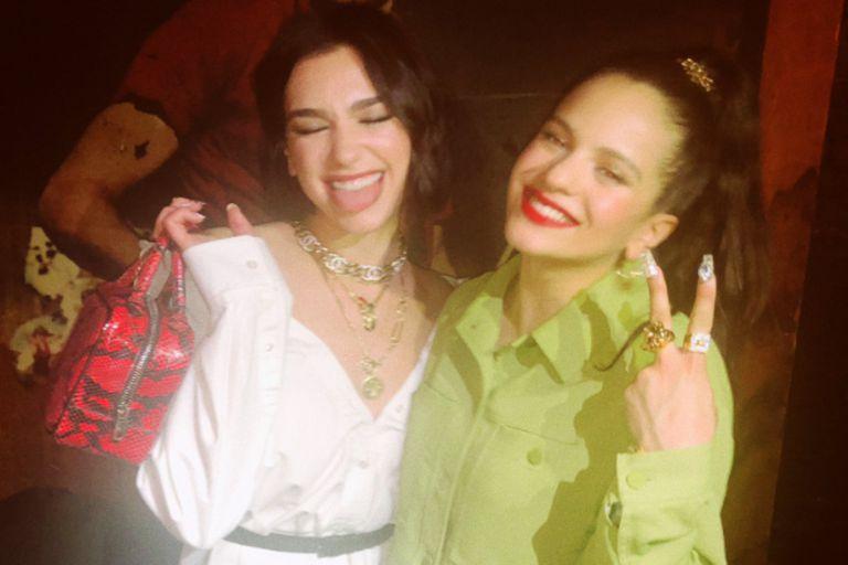 La relación entre Rosalía y Dua Lipa excede la admiración mutua
