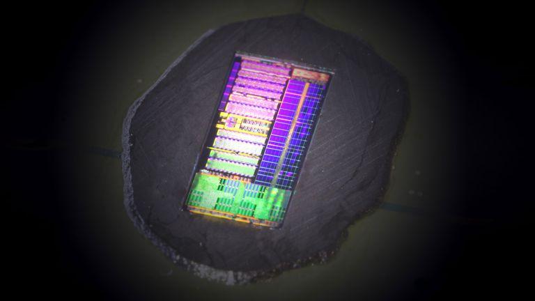 Un prototipo del chip fotónico