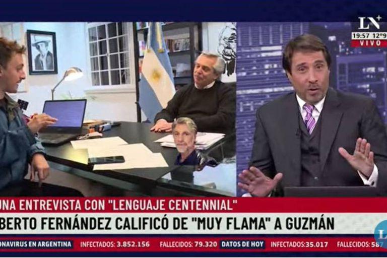 """Muy flama"": Feinmann sorprendió a sus compañeros con términos ""centennials"""