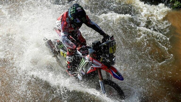 Joan Barreda maniobra con su Honda