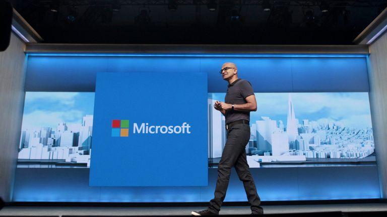 Satya Nadella, CEO de Microsoft, durante la conferencia de desarrolladores BUILD