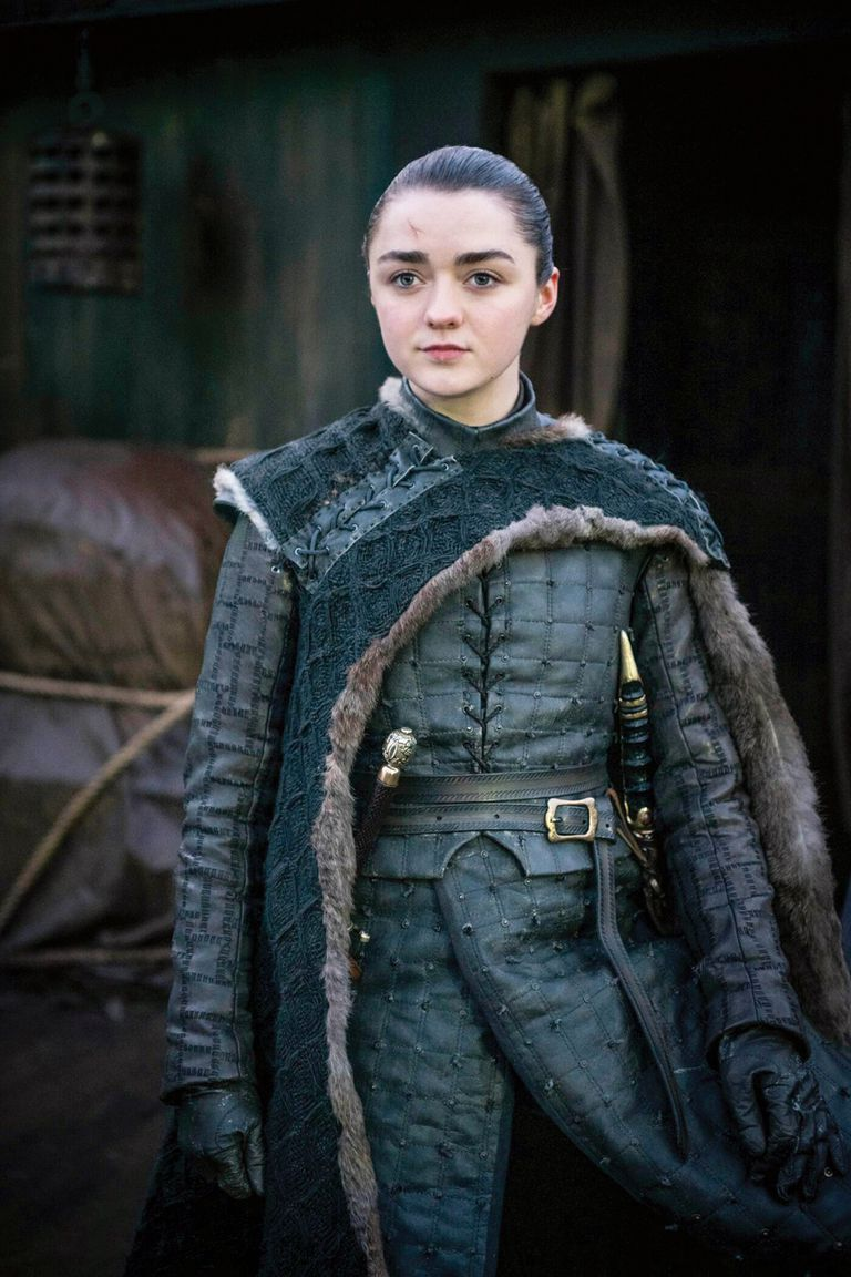La actriz como Arya Stark