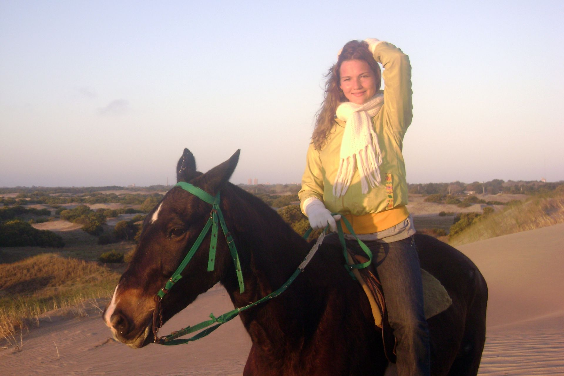 Ksenia, en la costa argentina.