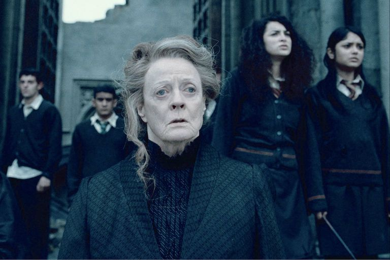 Maggie Smith interpretó a Minerva McGonagall en la serie de films de Harry Potter