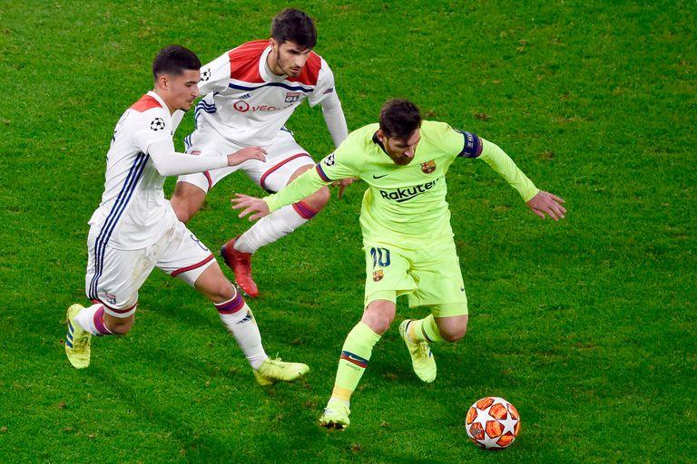 Champions League. El Barcelona de Messi no pudo ganar: 0-0 ante Lyon en Francia