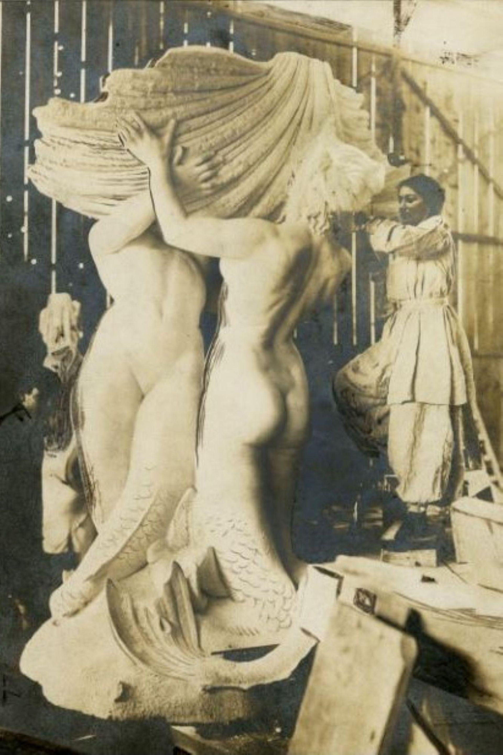 En Italia esculpió Las Nereidas, con ayudantes por la magnitud de la obra