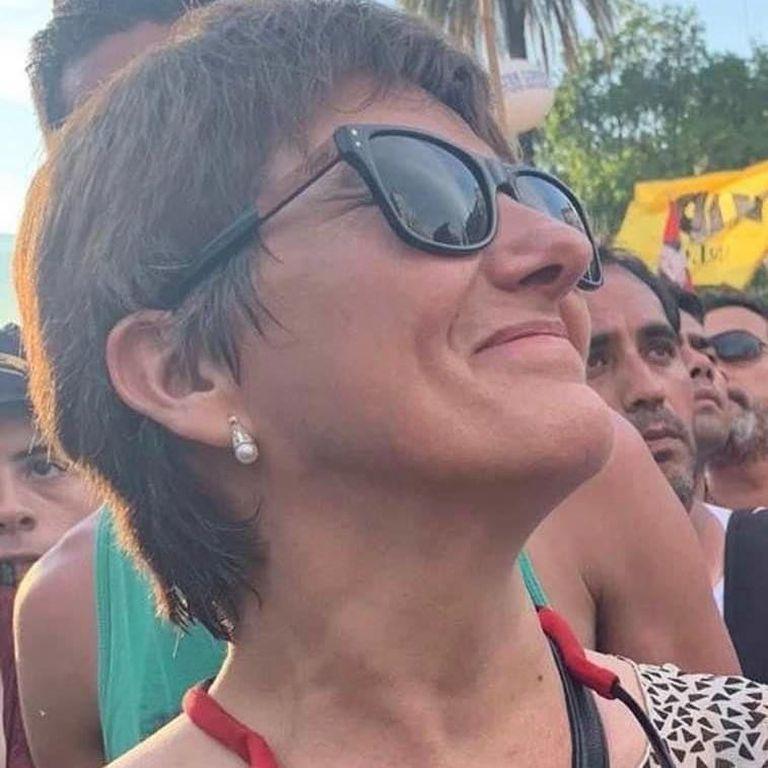 Laura Radetich, profesora en la Escuela Técnica N° 2 María Eva Duarte de Ciudad Evita