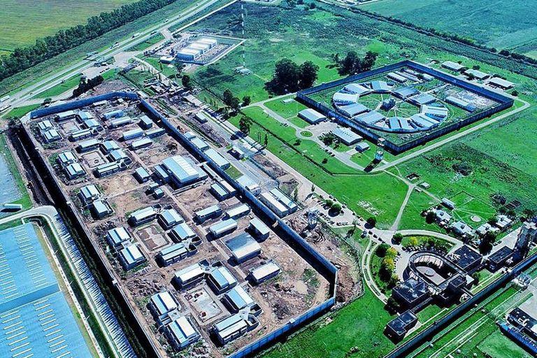 Vista del complejo penitenciario de Campana, dentro del cual se construyó recientemente la unidad para jóvenes adultos en el final de la pena y donde el gobernador Kicillof, según anunció, construirá 616 nuevas plazas