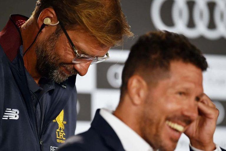 Klopp y Simeone estarán frente a frente con Liverpool y Atlético de Madrid