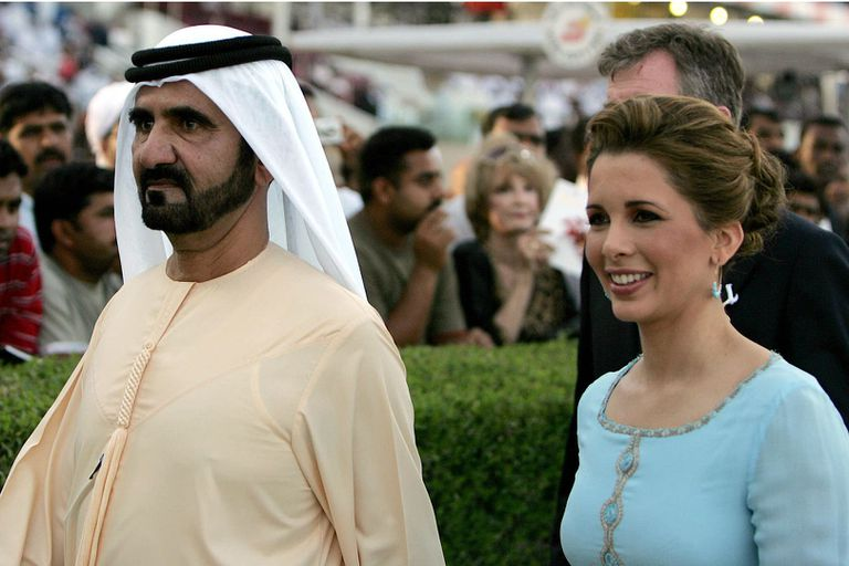 El jeque Mohammed y la princesa Haya de Jordania, su sexta esposa.