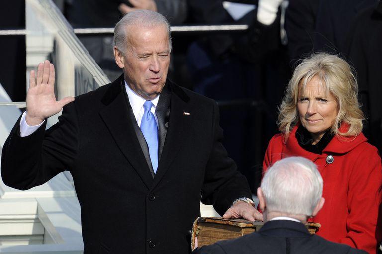 Joe Biden junto a su esposa, Jill Biden