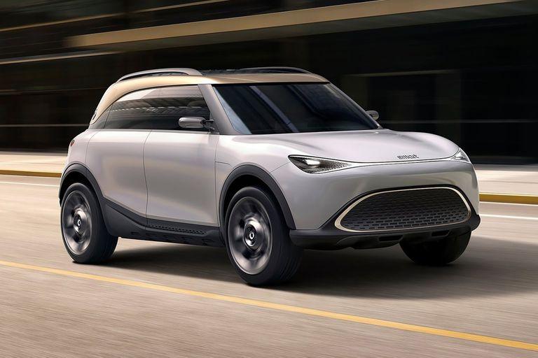 smart concept, Bien moderno. Otro de los modelos que expresa los conceptos de los nuevos vehículos 100% eléctricos