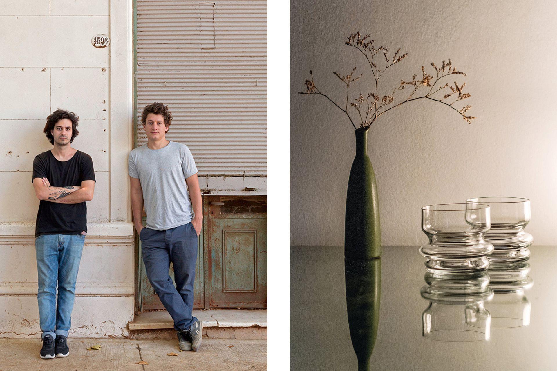 El vaso 'Fuso' captura las formas orgánicas del vidrio en el preciso instante en que llega al estado sólido. Lo fabricaron en la Cristalería San Carlos de Santa Fe, la única de América Latina en la que se hace cristal soplado virgen de crisol.