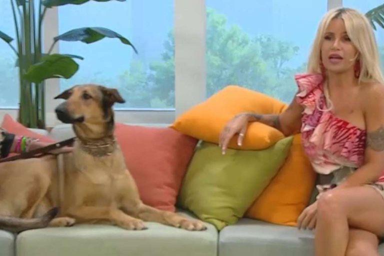 Florencia Peña conoció a la bisnieta de Fatiga, el perro de Casados con hijos