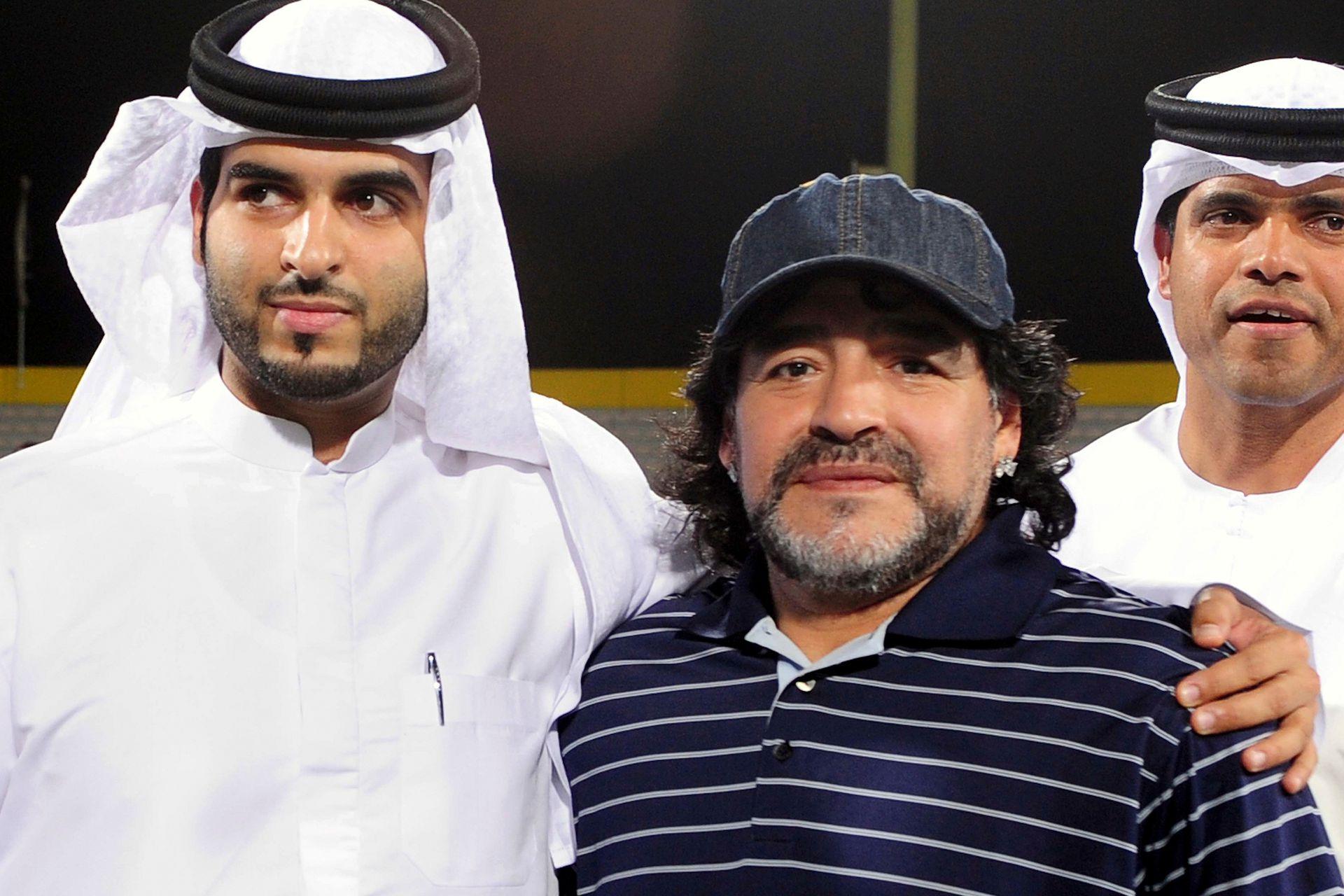 Maradona en 2011, en el Al-Wasel football club
