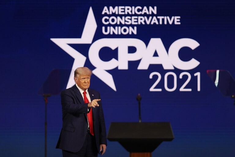 El expresidente de Estados Unidos Donald Trumo participó de la convención republicana en Orlando