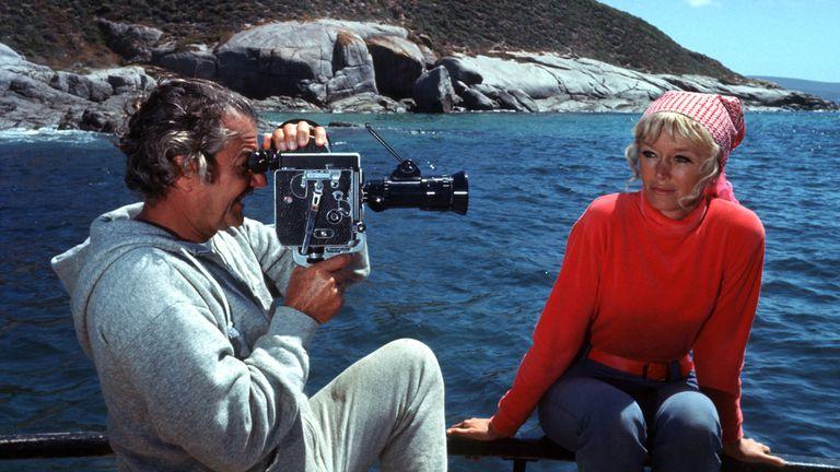 Valerie y Ron Taylor en 1976