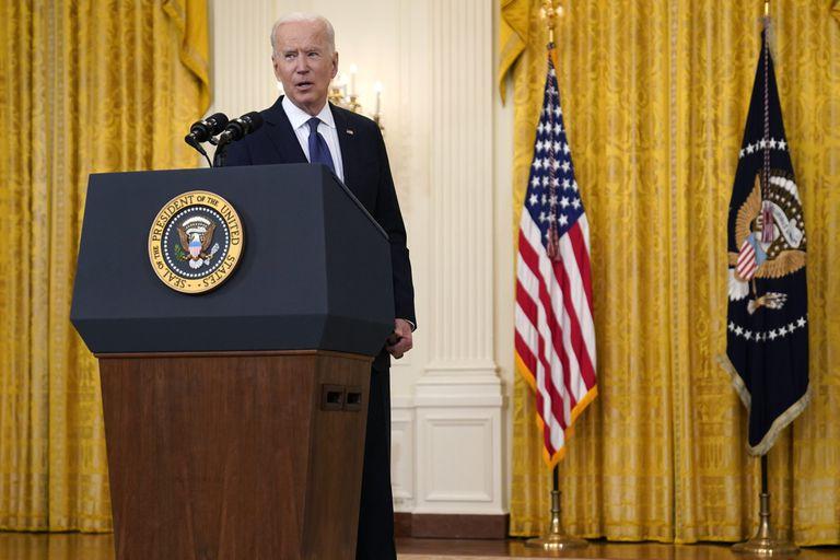 El presidente Joe Biden, en la Casa Blanca