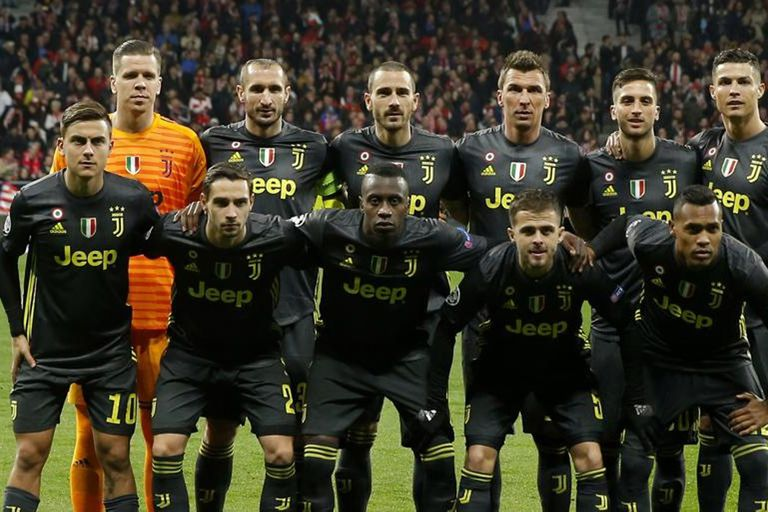 La formación de Juventus en el último partido de la Champions League