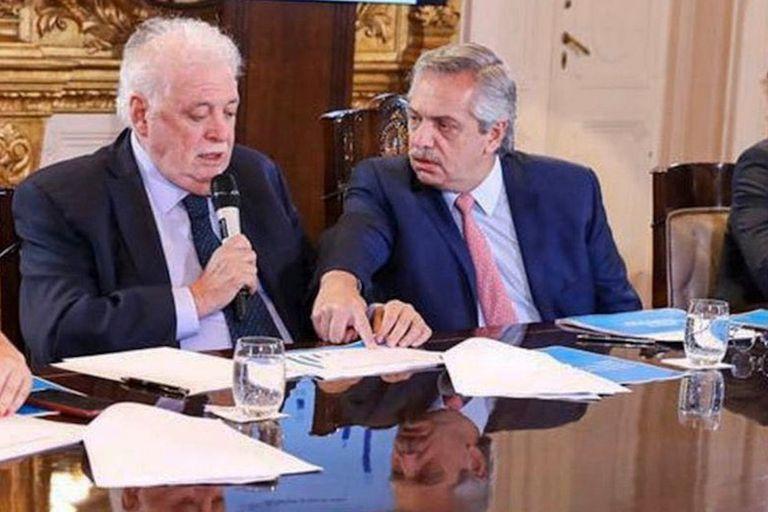 Alberto Fernández y Ginés Gonzalez García compartieron anteayer una reunión de evaluación sobre el impacto del coronavirus