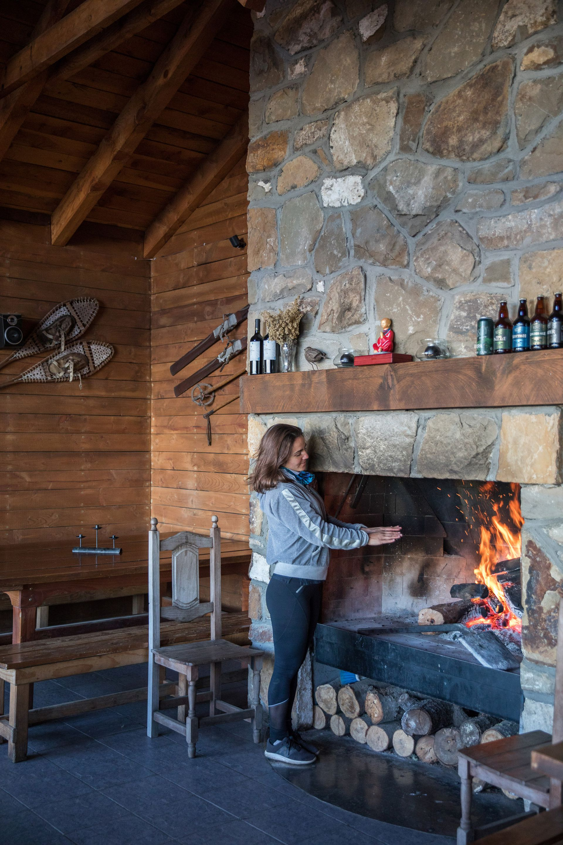 Al calor del hogar en el refugio Berghof