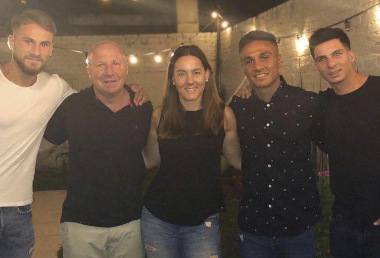 Los Mac Allister, de izquierda a derecha: Alexis (Brighton, de Inglaterra), Kevin (tuvo un paso fugaz por Boca y regresó a Argentinos) y Francis (Talleres de Córdoba)