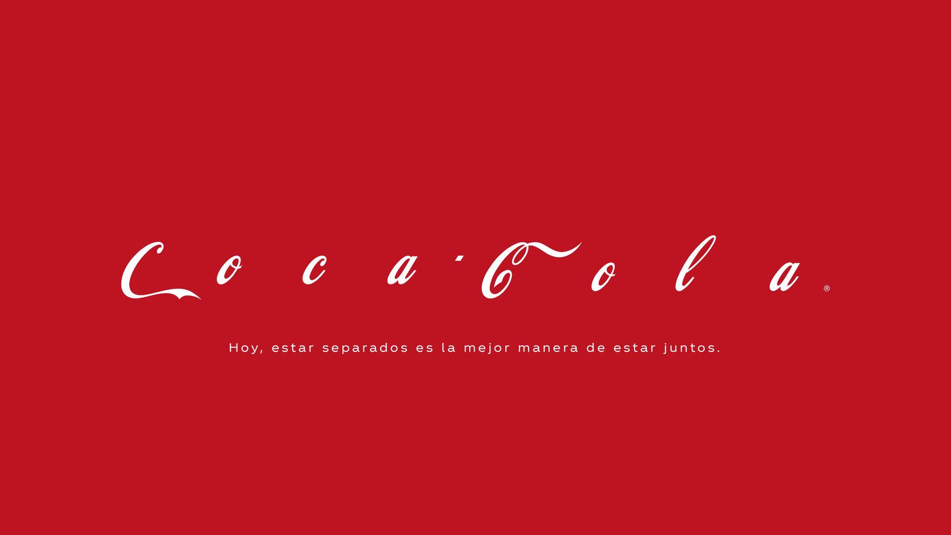 La distancia entre las letras de Coca Cola, todo un símbolo