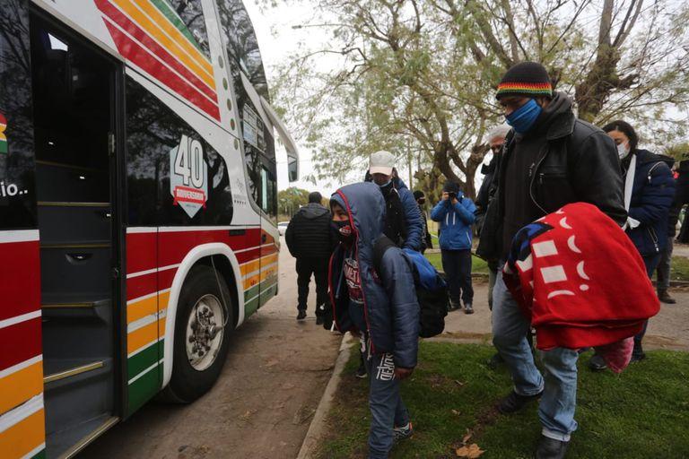 Heridos suben a un segundo micro de la empresa rumbo a Buenos Aires este martes al mediodía