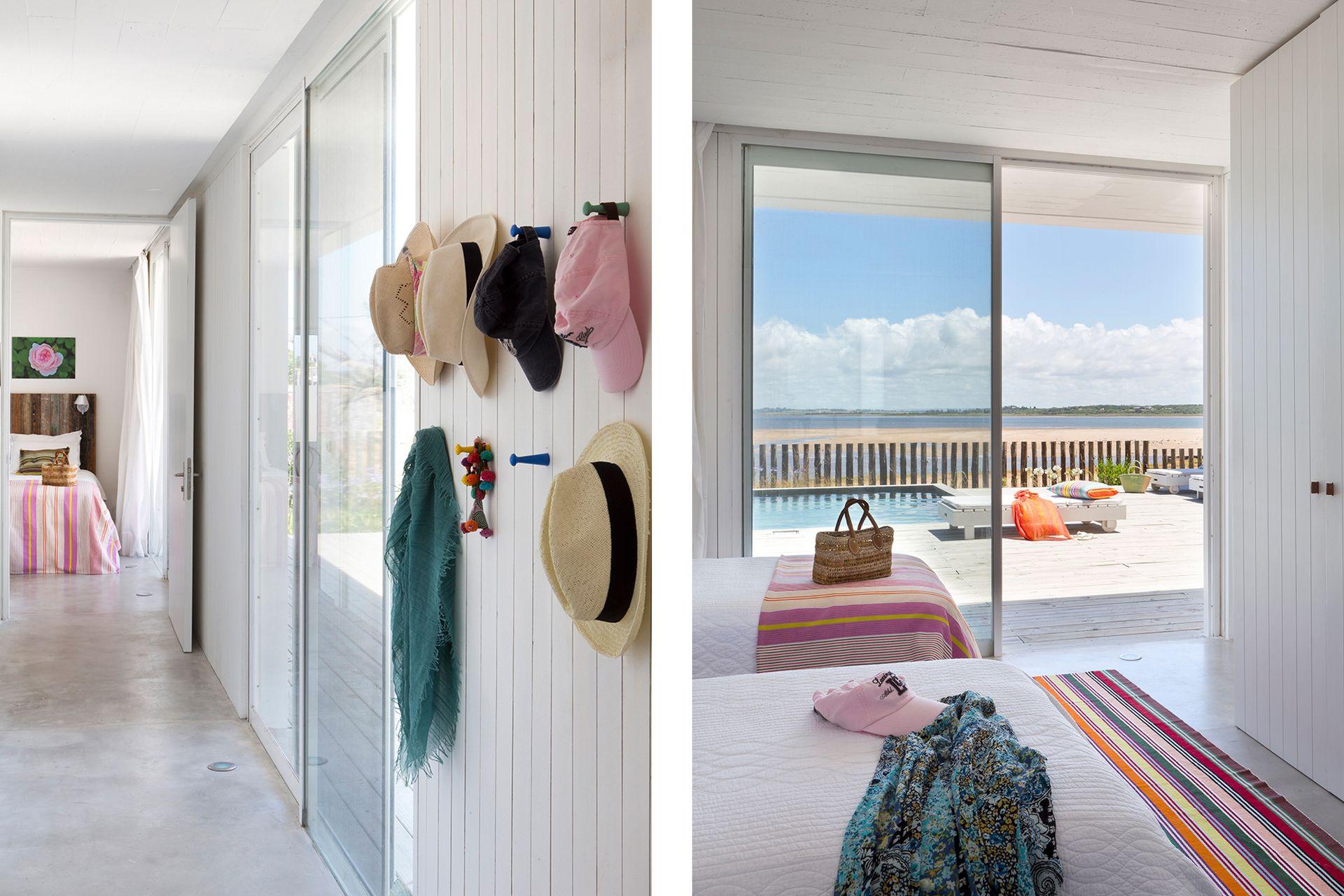 Ubicado al final del pasillo, este cuarto tiene camas vestidas con coloridos textiles que los dueños trajeron de Suecia.