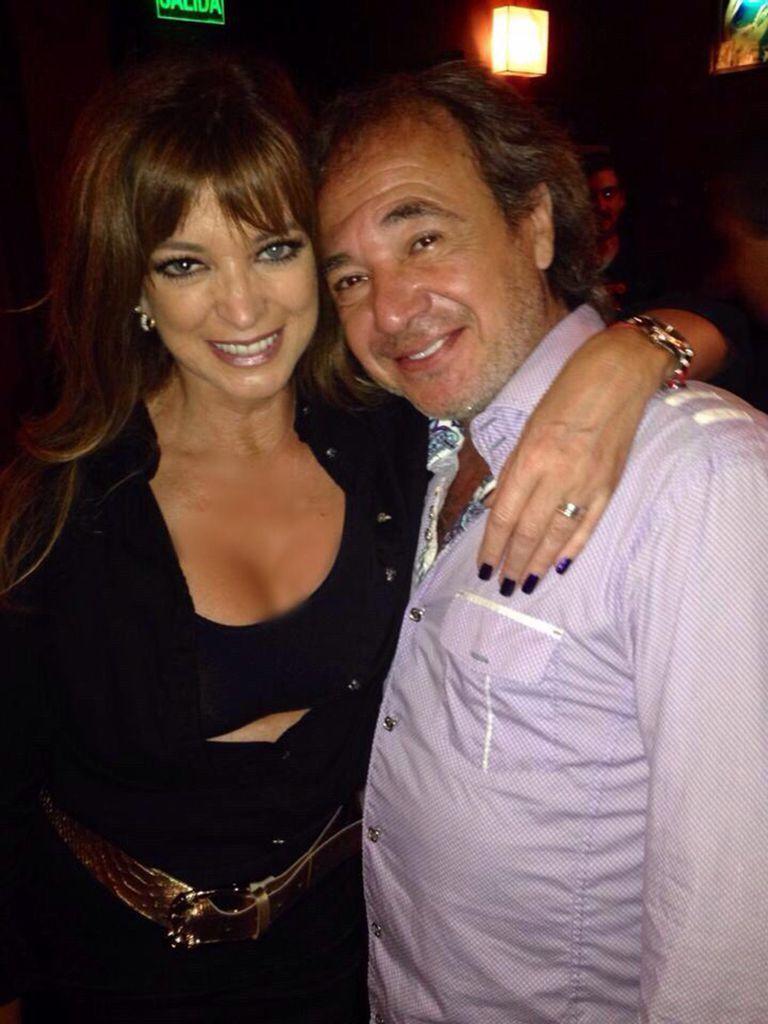Adriana Salgueiro y su pareja, Alejandro Arellano