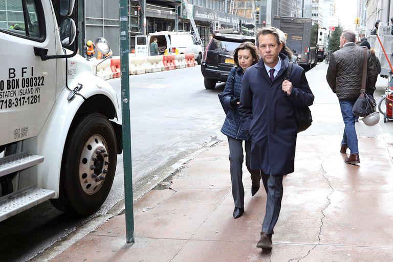 Julie Kozack y Luis Cubeddu en enero pasado, cuando Martín Guzmán se encontraba de viaje en Estados Unidos