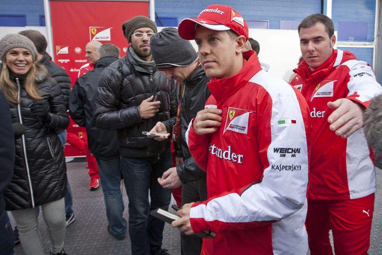 Vettel volvió a ser el mejor a bordo de su Ferrari