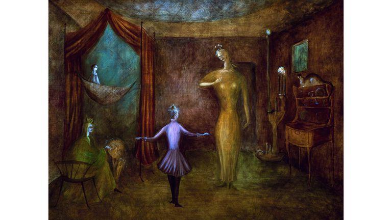L. Carrington, una de las artistas europeas que fusionaron su obra con figuraciones del mundo indígena