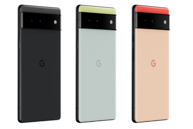 Los colores del Pixel 6, con su doble cámara trasera y su pantalla de 6,4 pulgadas