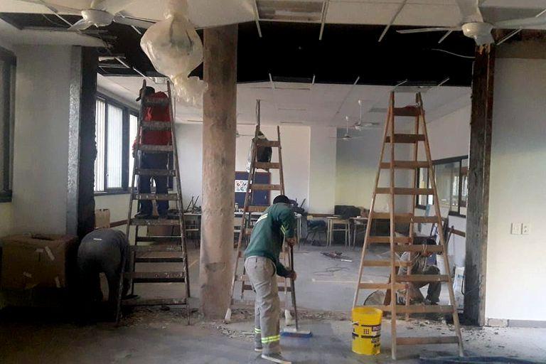 Modificaciones en la infraestructura del Colegio Michael Ham, de Vicente López, para el regreso después de las vacaciones