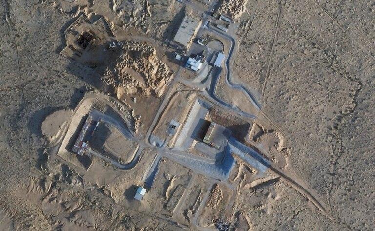 Esta foto satelital del 22 de febrero de 2021 de Planet Labs Inc. muestra la construcción cerca del Centro de Investigación Nuclear Shimon Peres Negev, cerca de la ciudad de Dimona, en Israel