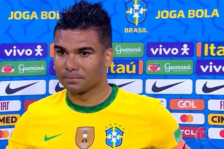 El capitán, Casemiro, fue el único futbolista de Brasil que habló públicamente; dijo que el martes anunciarán una postura definitiva.
