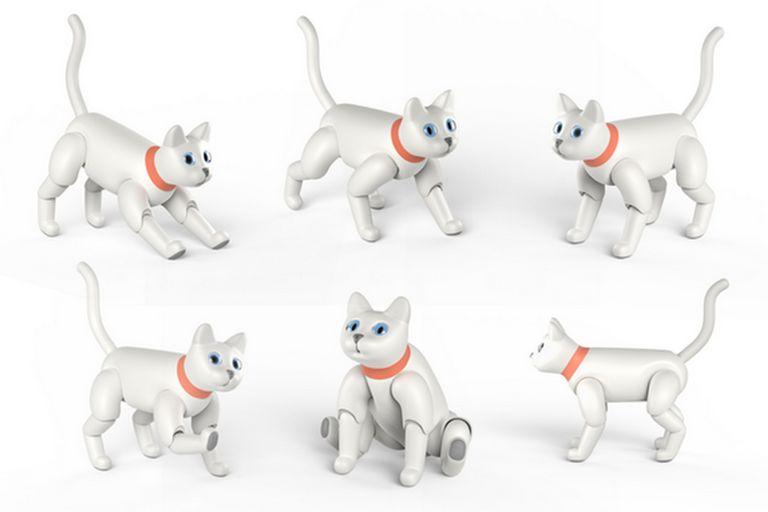 MarsCat está equipado con un RaspBerry Pi 3 y puede realizar diversos movimientos propios de los felinos reales