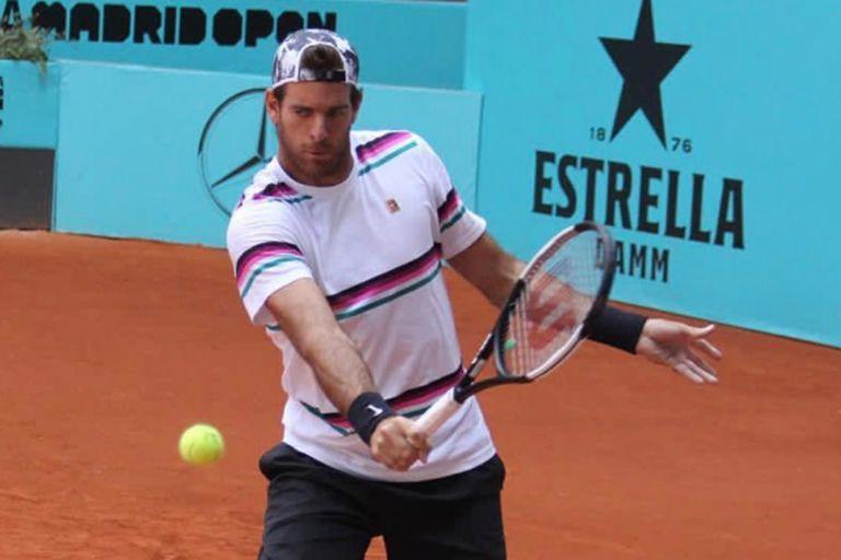 Del Potro confirmó que jugará en los singles del Masters 1000 de Madrid