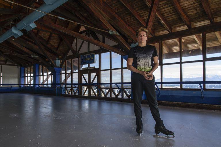 Mauro Calcagno, gran promesa del patinaje artístico a los 18 años