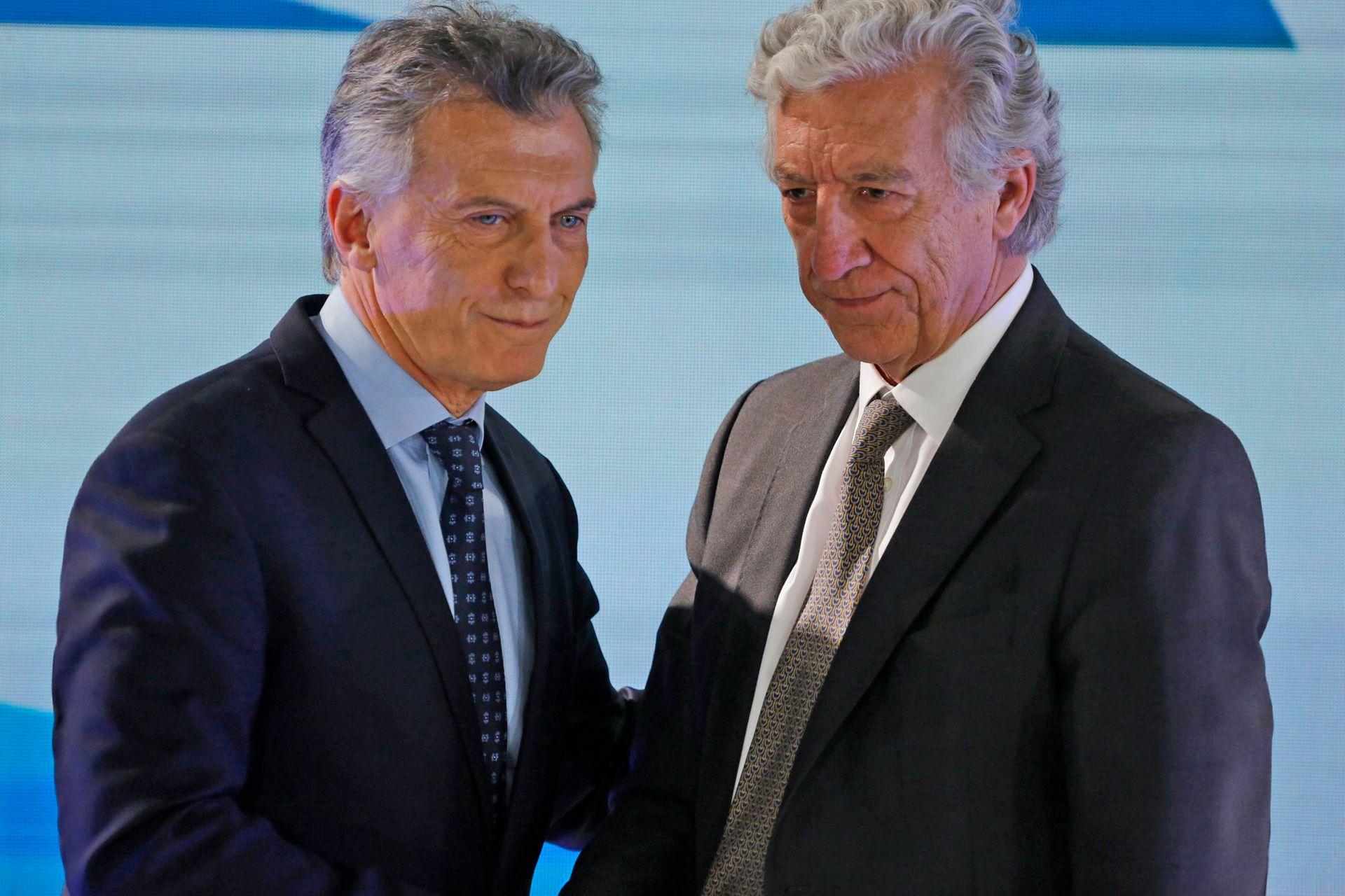 Macri junto a Jaime Campos en la reunión Asociación Empresaria Argentina AEA