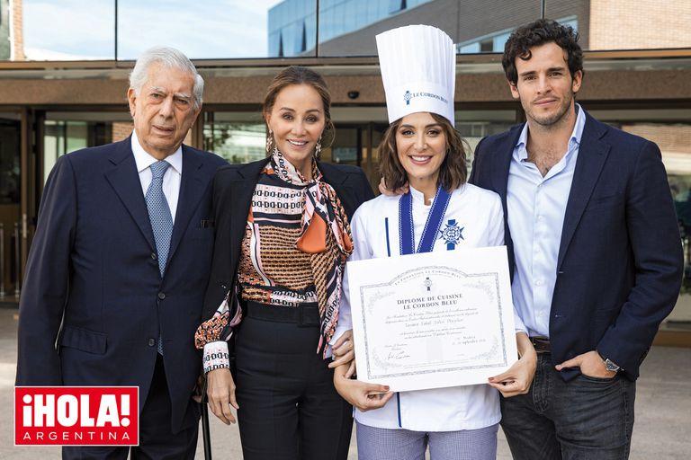 La hija de Isabel Preysler se recibió de chef en la sede madrileña del prestigioso Le Cordon Bleu