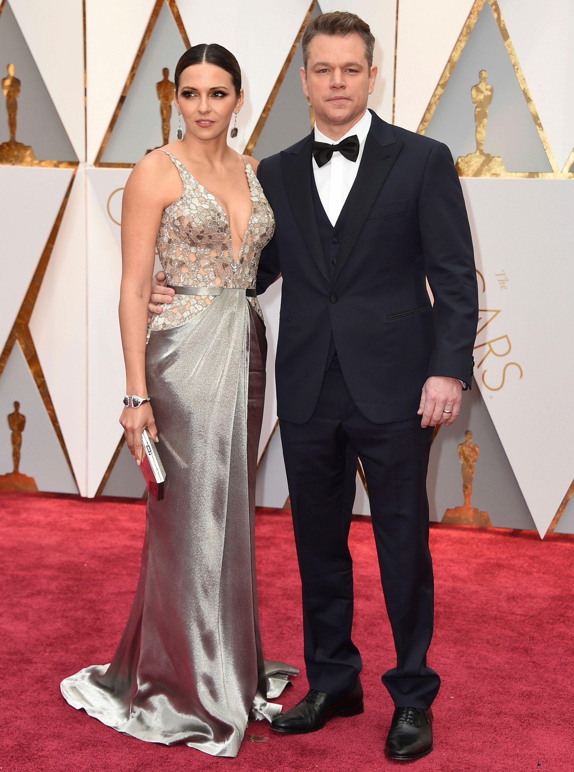 Matt Damon y Lucía Barroso