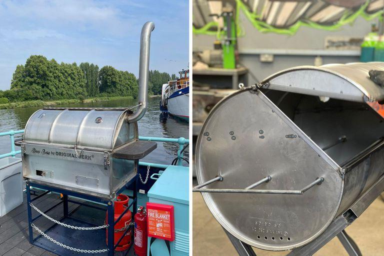 Los chulengos de acero inoxidable que produce el herrero Conan Sturdy en Londres reciclando tambores de aceite