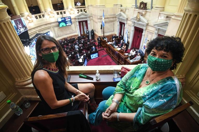 Gómez Alcorta, junto a Dora Barrancos, una reconocida referente del feminismo en la Argentina
