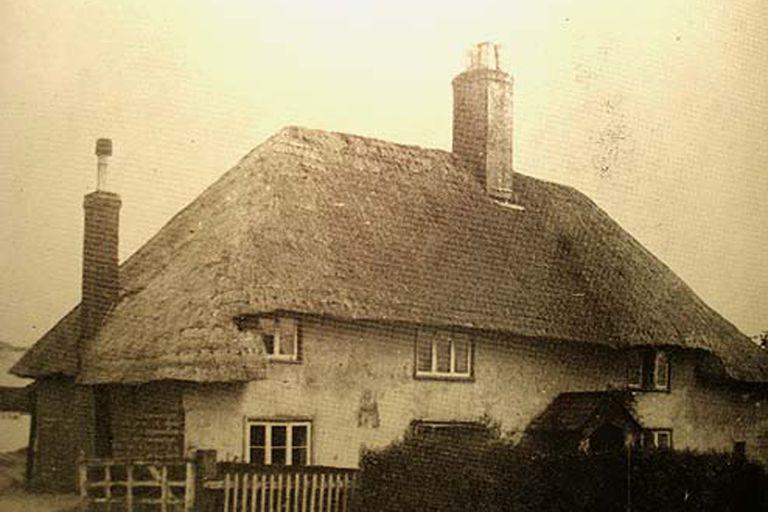 La casa de Southampton en el exilio, foto de autor anónimo.