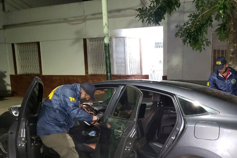El auto utilizado por los secuestradores